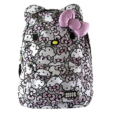 Loungefly Hello Kitty All Over Backpack; Pink / Grey
