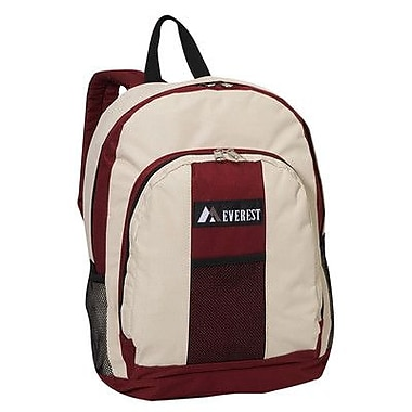 Everest 17'' Backpack with Front and Side Pockets; Hot Pink