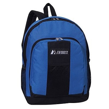 Everest 17'' Backpack with Front and Side Pockets; Royal Blue/Black