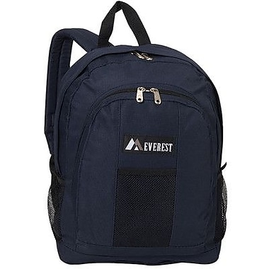 Everest 17'' Backpack with Front and Side Pockets; Navy