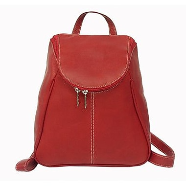 Piel U-Zip Flap Backpack; Red