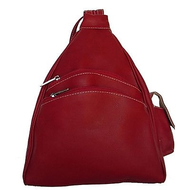 Piel Fashion Avenue Two Pocket Sling; Red