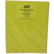 JAM Paper® Mailing Adress Labels Astrobright Terra Lime Green, 4x3-1/3, 120/Pk, 120/Pack