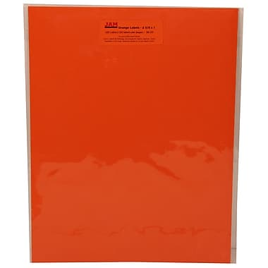 JAM Paper® Mailing Address Labels Astrobright Cosmic Orange, 2-5/8x1in., 120/Pk, 120/Pack