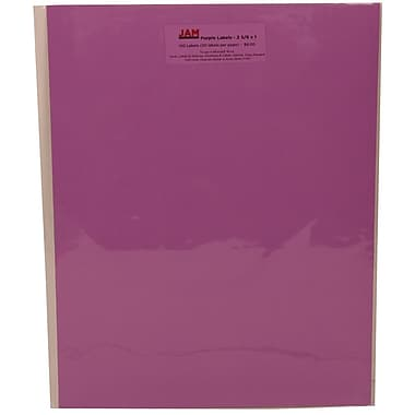 Jam Paper 1in. x 2.63in. Inkjet/Laser Mailing Address Labels, Astrobright Planetary Purple, 4/Pack (302725788)