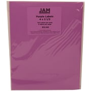 JAM Paper® Mailing Adress Labels Astrobright Planetary Purple, 4x3-1/3, 120/Pk, 120/Pack