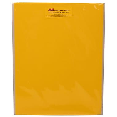 JAM Paper® Mailing Address Labels Astrobright Solar Yellow, 2-5/8x1in., 120/Pk, 120/Pack