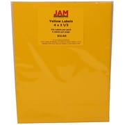 JAM Paper® Mailing Adress Labels Astrobright Solar Yellow, 4x3-1/3, 120/Pk, 120/Pack