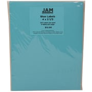 JAM Paper® Mailing Adress Labels Astrobright Lunar Blue, 4x3-1/3, 120/Pk, 120/Pack