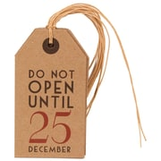 JAM Paper® Christmas Gift Tags, Recycled Brown Kraft with Do Not Open Until December 25th, 12/Pack (297525311g)