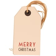 JAM Paper® Christmas Gift Tags, White with Merry Christmas, 12/Pack (297525313g)