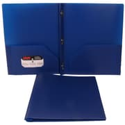 JAM Paper® Eco Plastic Folder With Clasps Deep Blue, 6/Pack