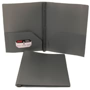 JAM Paper® Plastic Folder With Clasps Grey
