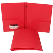 JAM Paper® Plastic Folder With Clasps Pink