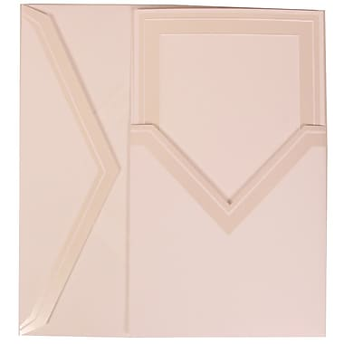 JAM Paper® Wedding Invitation Set, Medium, 5.5 x 7.75, White with Ivory Border with Ivory Pocket Envelopes, 50/pack (306424788)