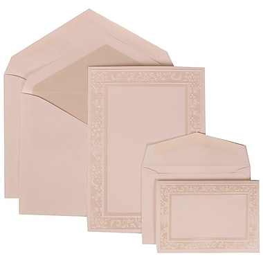 JAM Paper® Wedding Invitation White Card with Crystal Lined, 150/Pack