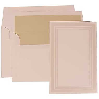 JAM Paper® Wedding Invitation Set, Large, 6 5/8 x 10, White with Ecru Lined Envelopes, 50/pack (309225015)