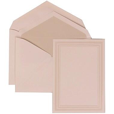 JAM Paper® Wedding Invitation Set, Medium, 5.5 x 7.75, White, Ivory Triple Border, Crystal Lined Envelopes, 50/pack (309225018)