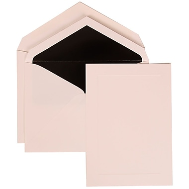 JAM Paper® Wedding Invitation Set, Large, 6 5/8 x 10, White with Black Lined Envelopes, - 50/pack (309425048)