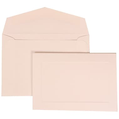 JAM Paper® Wedding Invitation Set, Small, 3 3/8 x 4 3/4, White Cards with Border, White Envelopes, 100/pack (309425059)