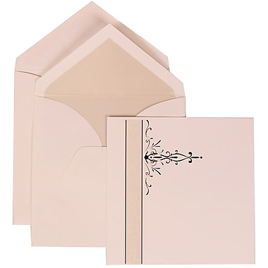 JAM Paper® Wedding Invitation Set, Large, 5.5 x 7.75, Black Vines Card with Crystal Lined Envelopes, 50/pack (304824667)