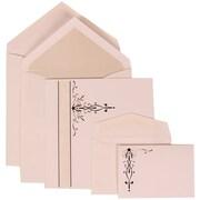 JAM Paper® Wedding Invitation Envelope Black Vines & Silver Lined, 150/Pack