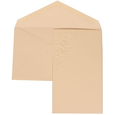 JAM Paper® Wedding Invitation Set, Large, 5.5 x 7.75, Ivory, Butterfly Vines Design, Ivory Lined Envelopes, 50/pack (305825264)