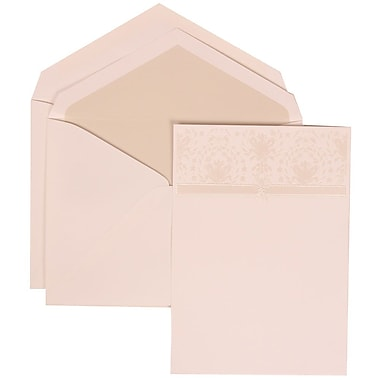JAM Paper® Wedding Invitation Set, Large, 5.5 x 7.75, Ivory Cards, Ivory Ribbon Band, Crystal Lined Envelopes, 50/pk (306624794)