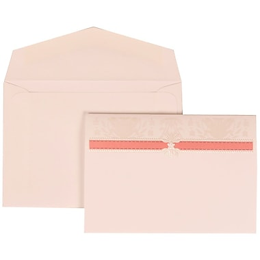 JAM Paper® Wedding Envelope Pink Card