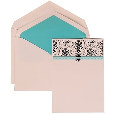 JAM Paper® Wedding Invitation Set, Large, 5.5 x 7.75, Blue Card with Blue Lined Envelopes, 50/pack (306724807)