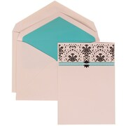 JAM Paper® Wedding Invitation Blue Card with Blue Lined, 50/Pack