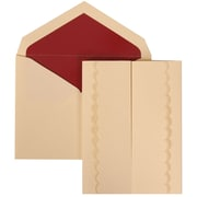 JAM Paper® Wedding Invitation Set, Large, 5.5 x 7.75, Ivory Cards, Ivory Garden Tuxedo, Red Lined Envelopes, 50/pack (308724984)