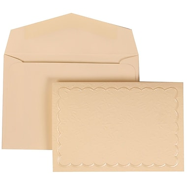JAM Paper® Ivory Garden Tuxedo Set Ivory Card with Ivory Envelope