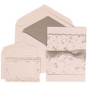 JAM Paper® Wedding Invitation Envelope Silver Lined