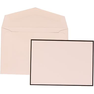 JAM Paper® Wedding Invitation Set, Small, 3 3/8 x 4 3/4, White Cards with Thin Black Border, White Envelopes (303424755)