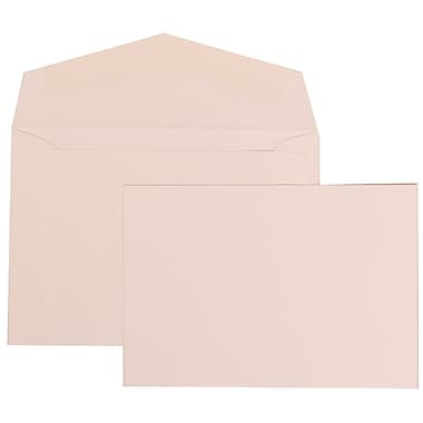JAM Paper® White Card with White Envelope Small Wedding Invitation Flower Cloud Ribbon Set, 500/Box 3 3/8 x 4 3/4