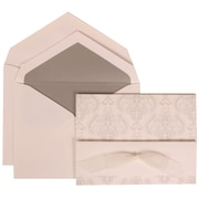 JAM Paper® Wedding Invitation Set White Card with Silver Lined Envelope, 50/Pack