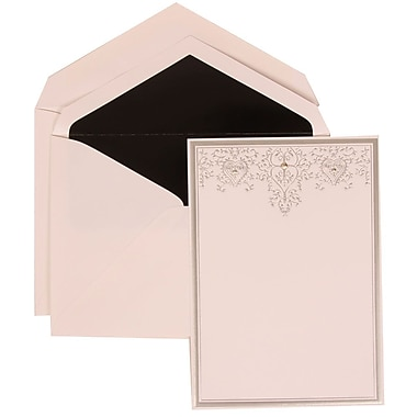 JAM Paper® Wedding Invitation Silver Heart Jewel Set