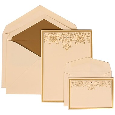 JAM Paper® Wedding Invitation Gold Heart Jewel Set, 305624724