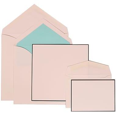 JAM Paper® Wedding Invitation Combo Sets, 1 Sm 1 Lg, White, Black Border, Tropical Blue Lined Envelopes, 150/pack (306824824)