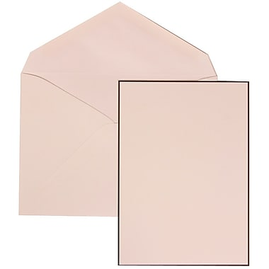 JAM Paper® Wedding Invitation Set, Large, 5.5 x 7.75, White with White Envelopes and Black Border, 50/pack (306824825)