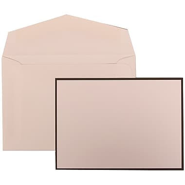JAM Paper® Wedding Invitation Set, Small, 3 3/8 x 4 3/4, White with White Envelopes and Black Border, 100/pack (306924826)