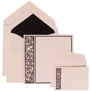 JAM Paper® Wedding Invitation White Card with Black, 150/Pack