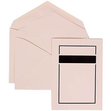 JAM Paper® Wedding Invitation Set, Large, 5.5 x 7.75, White Cards with Black Band Border, White Envelopes, 50/pack (310025084)