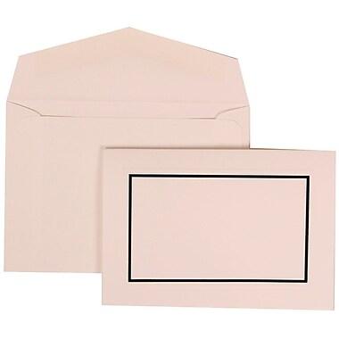 JAM Paper® Wedding Invitation Set, Small, 3 3/8 x 4 3/4, Black with White Envelopes, 100/pack (310025079)