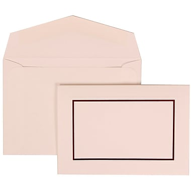 JAM Paper® Wedding Invitation Set, Small, 3 3/8 x 4 3/4, Red with White Envelopes and Red and Black Border, 100/pack (310025082)