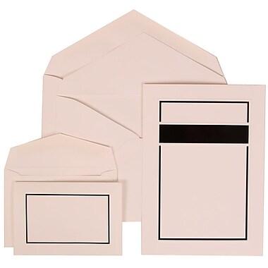 JAM Paper® Wedding Invitation Combo Sets, 1 Sm 1 Lg, White Cards with Black Border, White Envelopes, 150/pk (310025085)