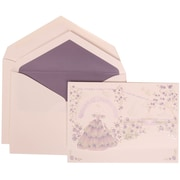 JAM Paper® Purple Card with Purple Lined Envelope Large Wedding Invitation Colorful Princess Set - 50 cards, 5 1/2 x 7 3/4