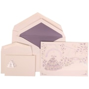 JAM Paper® Wedding Envelope Purple Card with Purple Lined