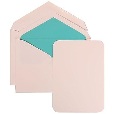 JAM Paper® Wedding Invitation Set, Large, 5.5 x 7.75, White Cards with Aqua Blue Lined Envelopes, 50/pack (311825213)